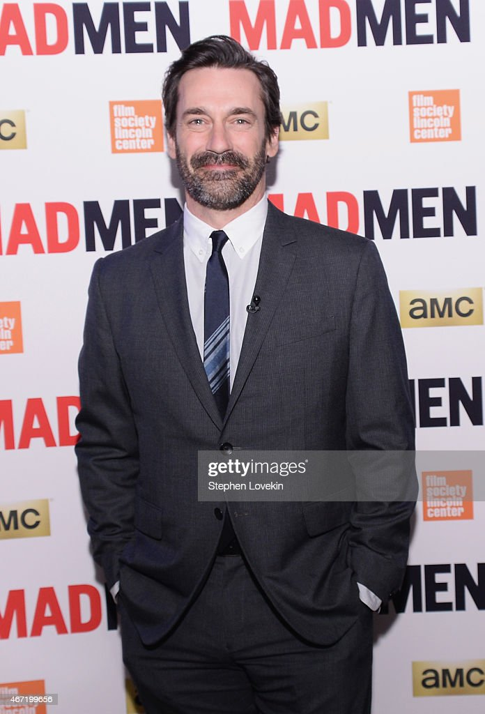 Jon Hamm attends the 'Mad Men' special screening at The Film Society of Lincoln Center on March 21 2015 in New York City