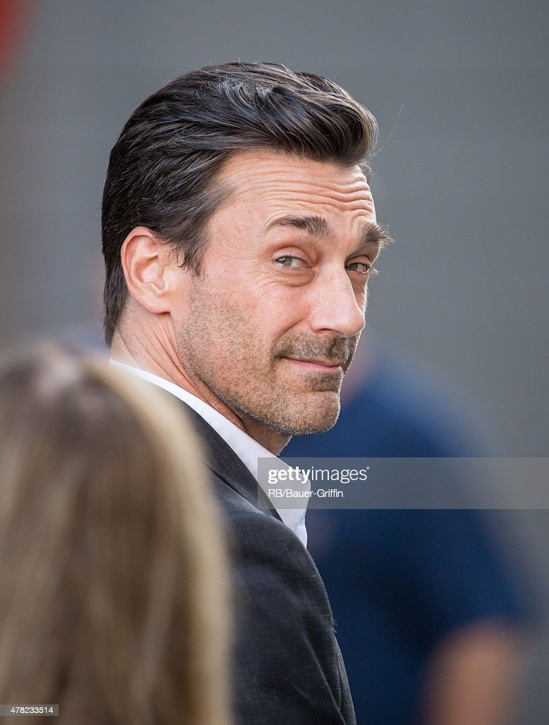 Jon Hamm is seen at the 'Jimmy Kimmel Live' show on June 23 2015 in Los Angeles California