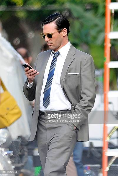 Jon Hamm is seen filming 'Mad Men' on March 05 2013 in Los Angeles California