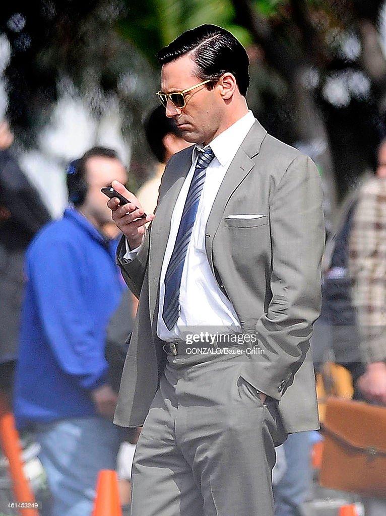 Jon Hamm is seen filming 'Mad Men' on March 05 2013 in Los Angeles California