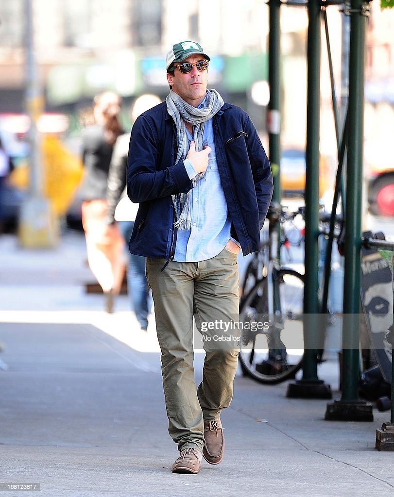 <a gi-track='captionPersonalityLinkClicked' href=/galleries/search?phrase=Jon+Hamm&family=editorial&specificpeople=3027367 ng-click='$event.stopPropagation()'>Jon Hamm</a> is seen in the East Village on May 5, 2013 in New York City.