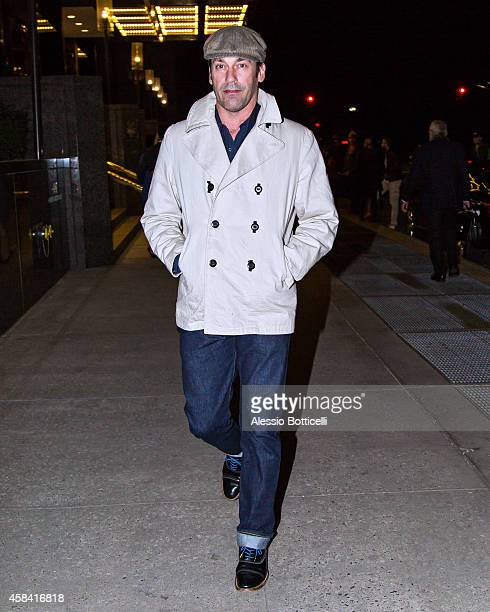 Jon Hamm is seen leaving a hotel on November 4 2014 in New York City