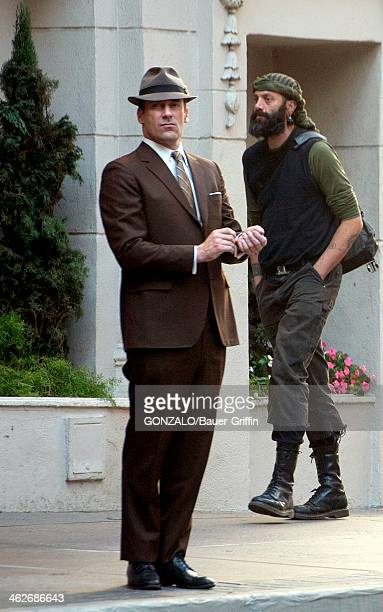 Jon Hamm is seen on the set of 'Mad Men' on January 14 2014 in Los Angeles California