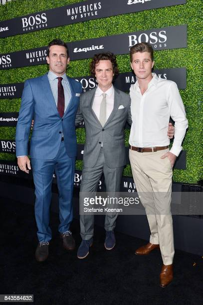 Jon Hamm Jay Fielden and Garrett Hedlund attend Esquire Celebrates September Issue's 'Mavericks of Style' Presented by Hugo Boss at Chateau Marmont...
