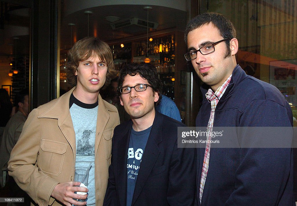 <a gi-track='captionPersonalityLinkClicked' href=/galleries/search?phrase=Jon+Heder&family=editorial&specificpeople=209117 ng-click='$event.stopPropagation()'>Jon Heder</a>, Ian Moore and Jared Hess during IFP/New York and InStyle Host Drive-In Movies at Rockefeller Center at Rockefeller Center in New York City, New York, United States.