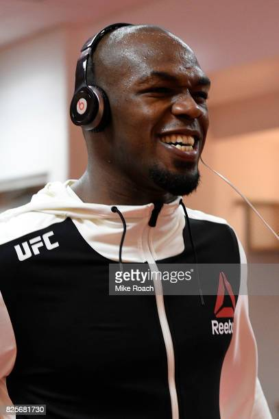 Jon Jones warms up backstage during the UFC 214 event inside the Honda Center on July 29 2017 in Anaheim California