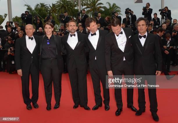 Jon Kilik Megan Ellison Steve Carell director Bennett Miller Channing Tatum and Mark Ruffalo attend the 'Foxcatcher' Premiere at the 67th Annual...