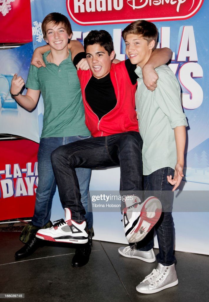 Jon Klaasen, Emery Kelly and Ricky Garcia of Forever In Your Mind attend the tree lighting ceremony at Hollywood & Highland Center on November 14, 2013 in Hollywood, California. (Photo by Tibrina Hobson/Getty Images)Jon Klaasen, Emery Kelly, Ricky Garcia