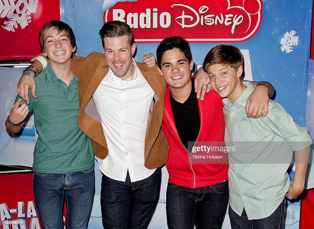 Jon Klaasen, James Kenney, Emery Kelly and Ricky Garcia of Forever In Your Mind attend the tree lighting ceremony at Hollywood & Highland Center on November 14, 2013 in Hollywood, California. (Photo by Tibrina Hobson/Getty Images)Jon Klaasen, Emery Kelly, Ricky Garcia