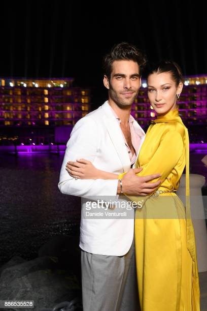 Jon Kortajarena and Bella Hadid attends Grand Opening Bulgari Dubai Resort on December 5 2017 in Dubai United Arab Emirates