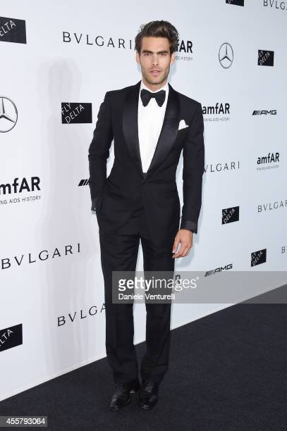 Jon Kortajarena attends amfAR Milano 2014 as a part of Milan Fashion Week Womenswear Spring/Summer 2015 on September 20 2014 in Milan Italy