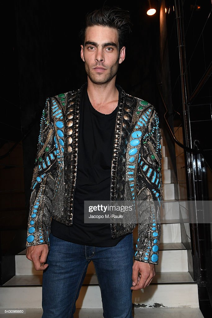 <a gi-track='captionPersonalityLinkClicked' href=/galleries/search?phrase=Jon+Kortajarena&family=editorial&specificpeople=4684429 ng-click='$event.stopPropagation()'>Jon Kortajarena</a> attends the Balmain Menswear Spring/Summer 2017 after party as part of Paris Fashion Week at Les Bains on June 25, 2016 in Paris, France.