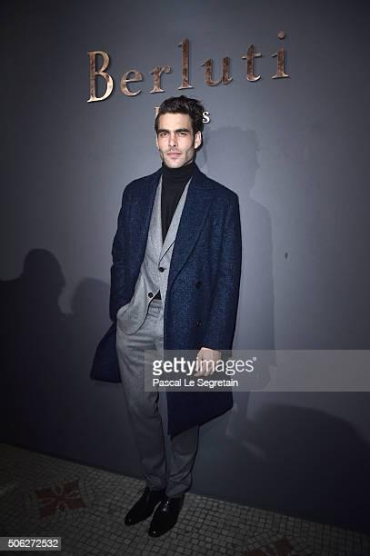 Jon Kortajarena attends the Berluti Menswear Fall/Winter 20162017 show as part of Paris Fashion Week on January 22 2016 in Paris France