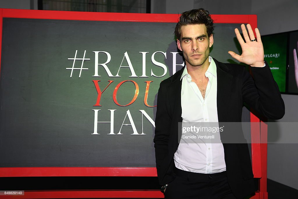 Jon Kortajarena attends the Bvlgari and Save The Children Unveiling of #RaiseYourHand Campaign at Maxxi Museum on July 8 2016 in Rome Italy