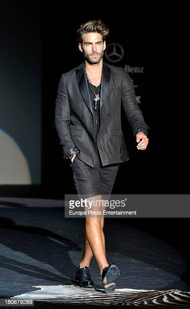 Jon Kortajarena showcases designs by Roberto Verino on the runway at Roberto Verino show during Mercedes Benz Fashion Week Madrid Spring/Summer 2014...