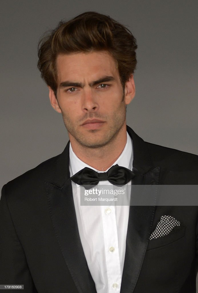 Jon Kortajarena walks the runway for the latest collection by MANGO held at the Disseny Hub Barcelona on July 8, 2013 in Barcelona, Spain.