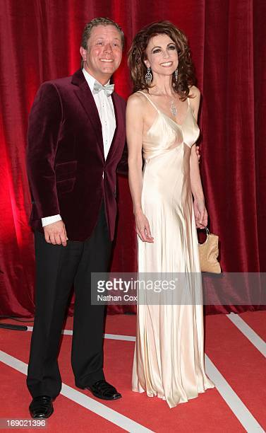 Jon Kulshaw and emma samms arrive at the British Soap Awards 2013 Red Carpet arrivals at Media City on May 18 2013 in Manchester England