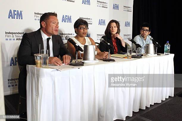 Jon Larson of DGA speaks at 'Working with the US Guilds' panel at American Film Market Day 6 at the Loews Santa Monica Beach Hotel on November 5 2012...