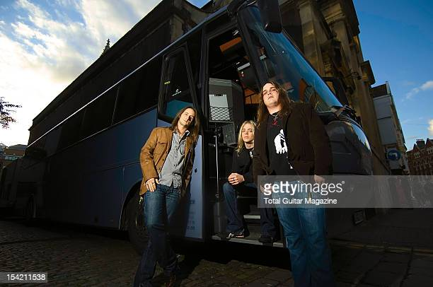 Jon Lawhon Ben Wells and Chris Robertson of American hard rock group Black Stone Cherry taken on October 17 2007