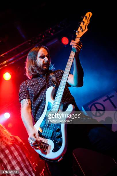 Jon Lawhon of Black Stone Cherry performs live during a concert at CClub on March 4 2014 in Berlin Germany