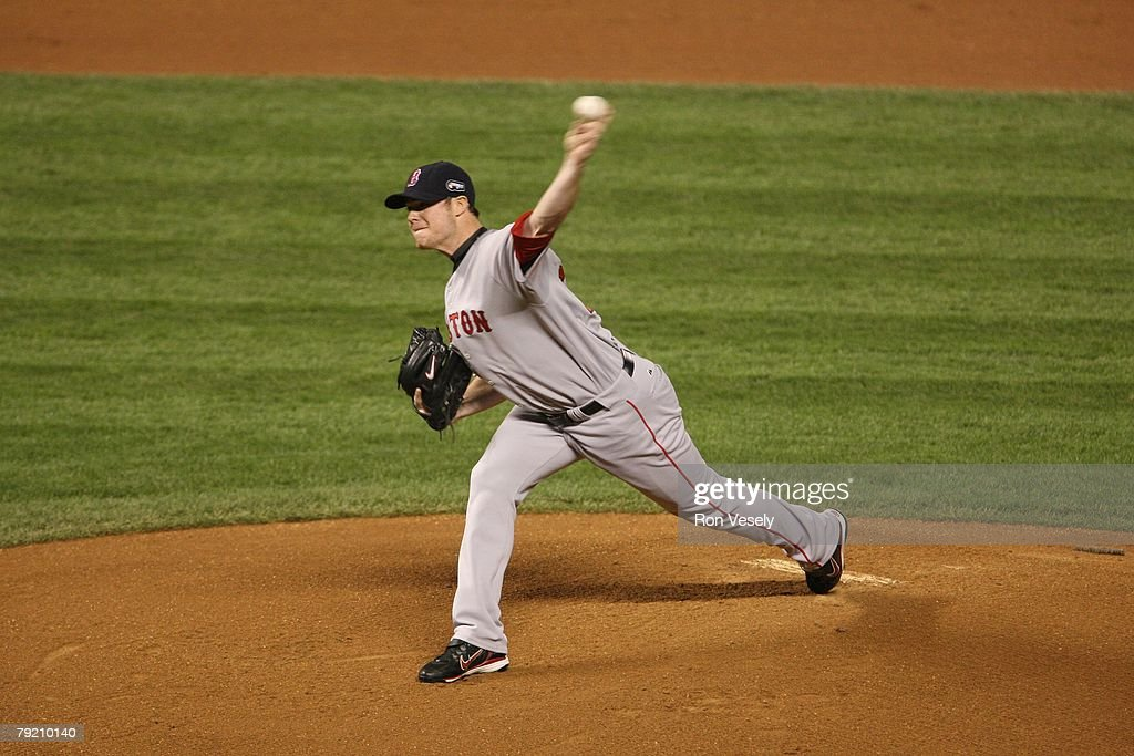 Jon Lester of the Boston Red Sox pitches during Game Four of the World Series against the Colorado Rockies at Coors Field in Denver, Colorado on October 28, 2007. The Red Sox defeated the Rockies 4-3.