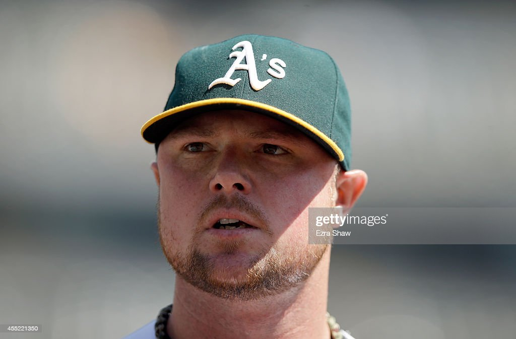 <a gi-track='captionPersonalityLinkClicked' href=/galleries/search?phrase=Jon+Lester&family=editorial&specificpeople=832746 ng-click='$event.stopPropagation()'>Jon Lester</a> #31 of the Oakland Athletics walks to the dugout for their game against the Seattle Mariners at O.co Coliseum on September 3, 2014 in Oakland, California.