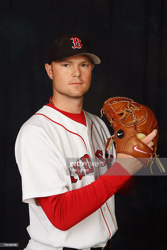 <a gi-track='captionPersonalityLinkClicked' href=/galleries/search?phrase=Jon+Lester&family=editorial&specificpeople=832746 ng-click='$event.stopPropagation()'>Jon Lester</a> poses for a portrait during the Boston Red Sox Photo Day at the Red Sox spring training complex on February 24, 2007 in Fort Myers, Florida.