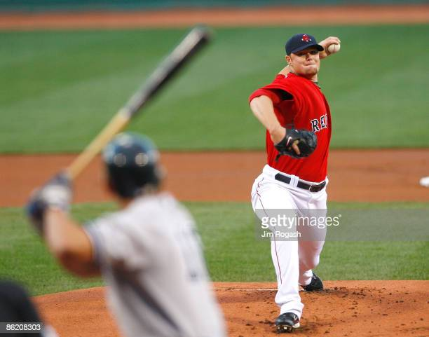 Jon Lester the Boston Red Sox throws against the New York Yankees at Fenway Park April 24 in Boston Massachusetts
