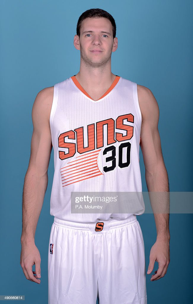<a gi-track='captionPersonalityLinkClicked' href=/galleries/search?phrase=Jon+Leuer&family=editorial&specificpeople=4630766 ng-click='$event.stopPropagation()'>Jon Leuer</a> #30 of the Phoenix Suns poses for a portrait on Media Day on September 28, 2015 at the Talking Stick Resort Arena in Phoenix, Arizona.