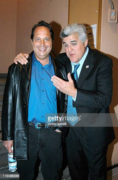 Jon Lovitz and Jay Leno during The Insight 'ICONS' Charity Comedy Show Hosted by Christopher Titus at Wiltern Theater in Los Angeles California...