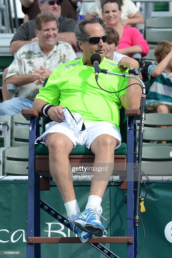 <a gi-track='captionPersonalityLinkClicked' href=/galleries/search?phrase=Jon+Lovitz&family=editorial&specificpeople=209148 ng-click='$event.stopPropagation()'>Jon Lovitz</a> participates in 23rd Annual Chris Evert/Raymond James Pro-Celebrity Tennis Classic at Delray Beach Tennis Center on October 27, 2012 in Delray Beach, Florida.