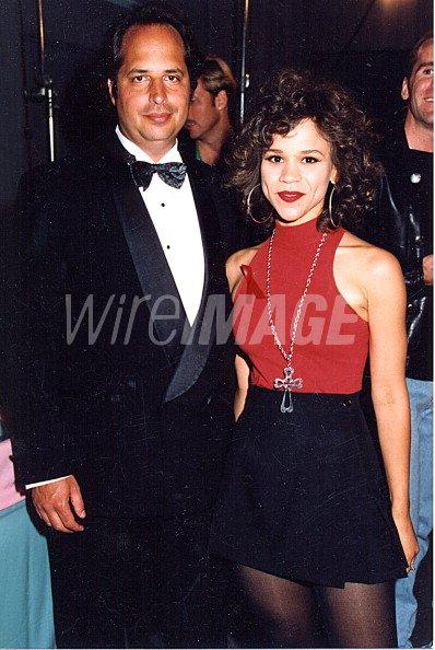Jon Lovitz Rosie Perez during 1992 MTV Movie Awards in Los