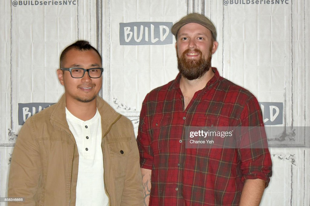 Jon Lung (L) and Brian Louden attend Build series to discuss 'MythBusters' at Build Studio on October 6, 2017 in New York City.
