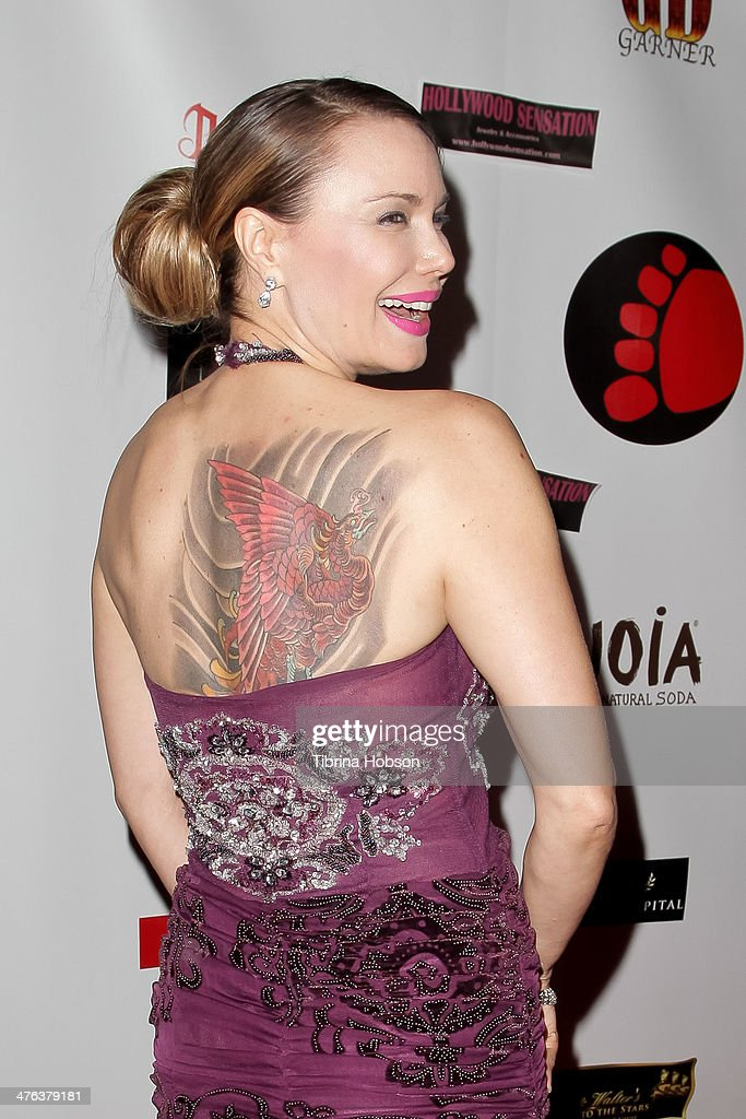 Jon Mack (tattoo detail) attends the 4th annual salute to the stars Oscar party at W Hollywood on March 2, 2014 in Hollywood, California.