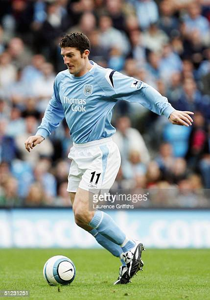Jon Macken of Manchester City in action during the Barclays Premiership match between Manchester City and Charlton Athletic at The City of Manchester...