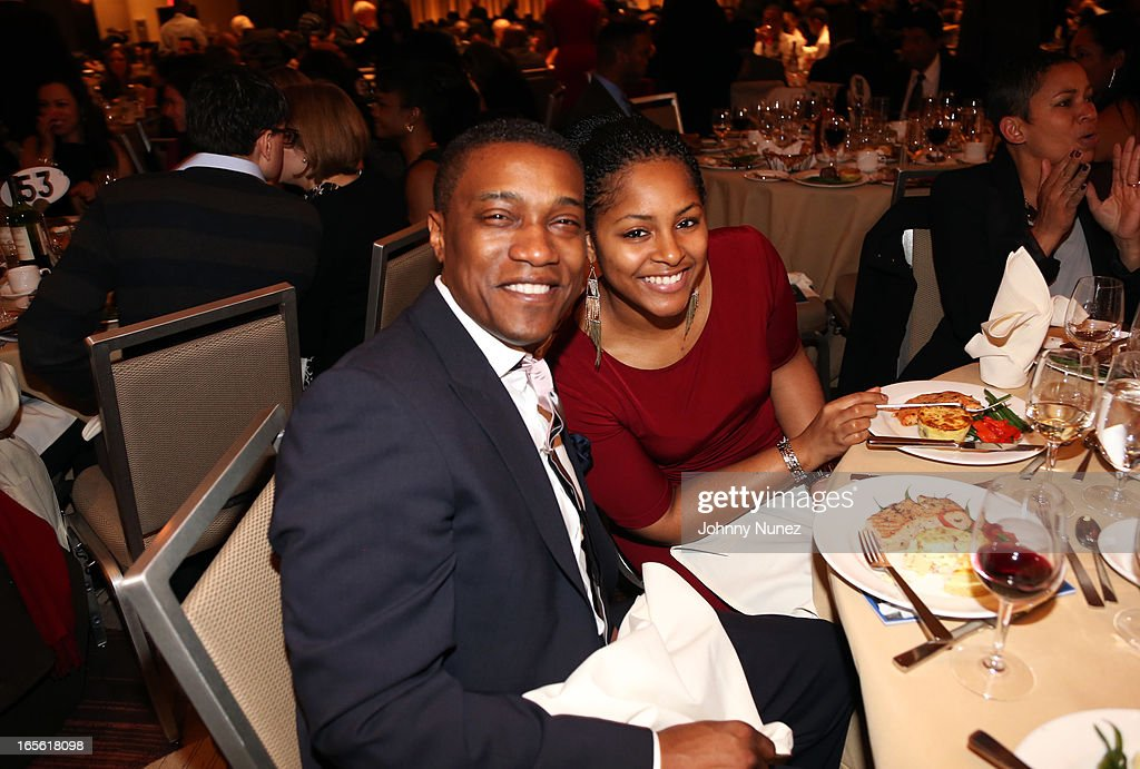 Jon Marc Sandifer (L) and guest attend the 2013 Keepers Of The Dream Awards at the Sheraton New York Hotel & Towers on April 4, 2013, in New York City.