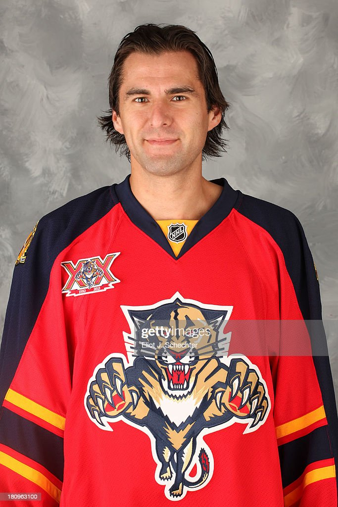 <a gi-track='captionPersonalityLinkClicked' href=/galleries/search?phrase=Jon+Matsumoto&family=editorial&specificpeople=4596655 ng-click='$event.stopPropagation()'>Jon Matsumoto</a> of the Florida Panthers poses for his official headshot for the 2013-2014 NHL season on September 11, 2013 in Sunrise, Florida.