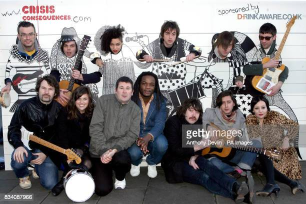 Jon McClure from Reverend and the Makers Gaz Coombes from Supergrass Tahita Bulmer from the New Young Pony Club Danny Goffey from Supergrass Drew...
