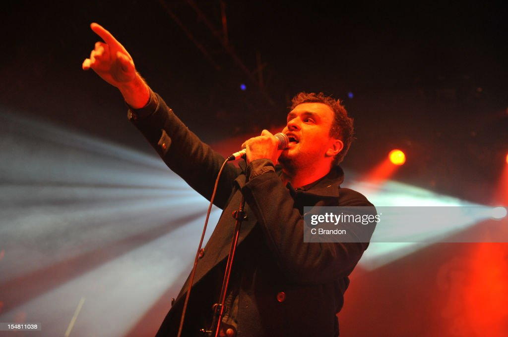 Jon McClure of Reverend And The Makers performs on stage at Shepherds Bush Empire on October 26, 2012 in London, United Kingdom.