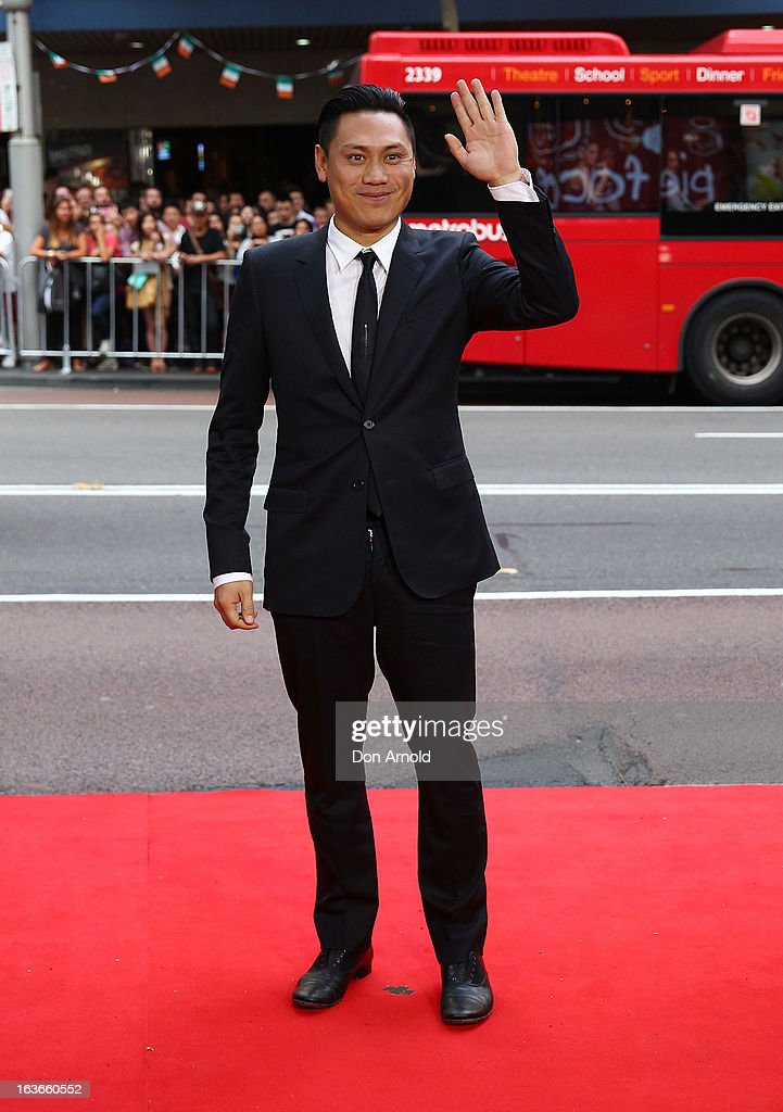 Jon M.Chu arrives at the 'G.I.Joe: Retaliation' - Australian Premiere at Event Cinemas George Street on March 14, 2013 in Sydney, Australia.