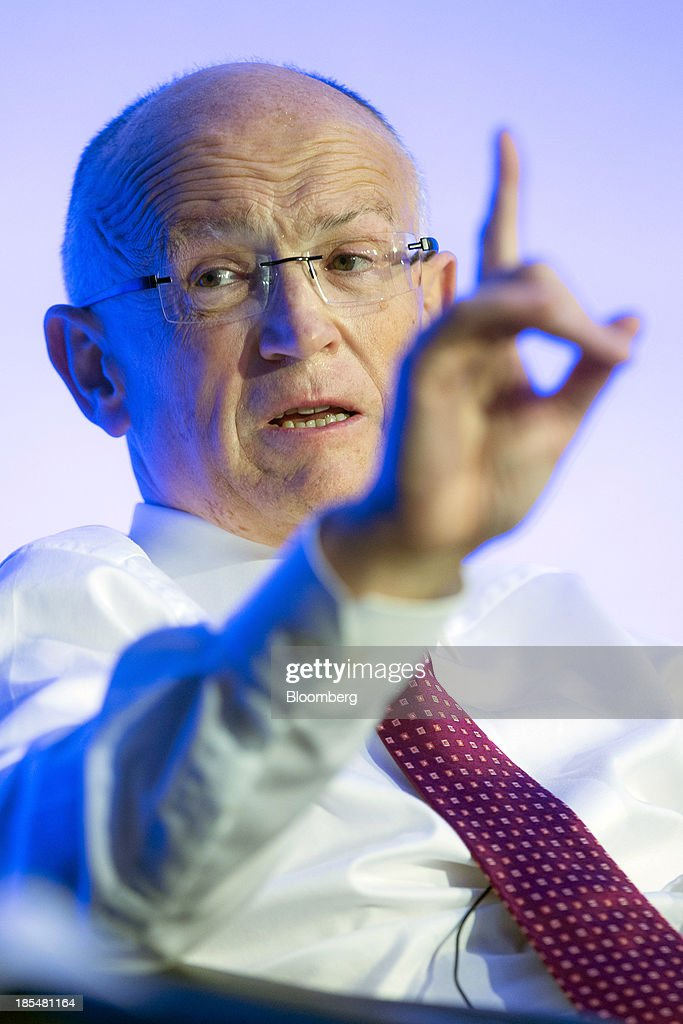 Jon Moulton, chairman and founder of Better Capital Plc., gestures as he speaks during the Airport Operators Association (AOA) annual conference in London, U.K., on Monday, Oct. 21, 2013. The AOA conference is being held ahead of the Airports Commission interim report setting out a shortlist of options for maintaining the UK's status as an international hub for aviation. Photographer: Jason Alden/Bloomberg via Getty Images