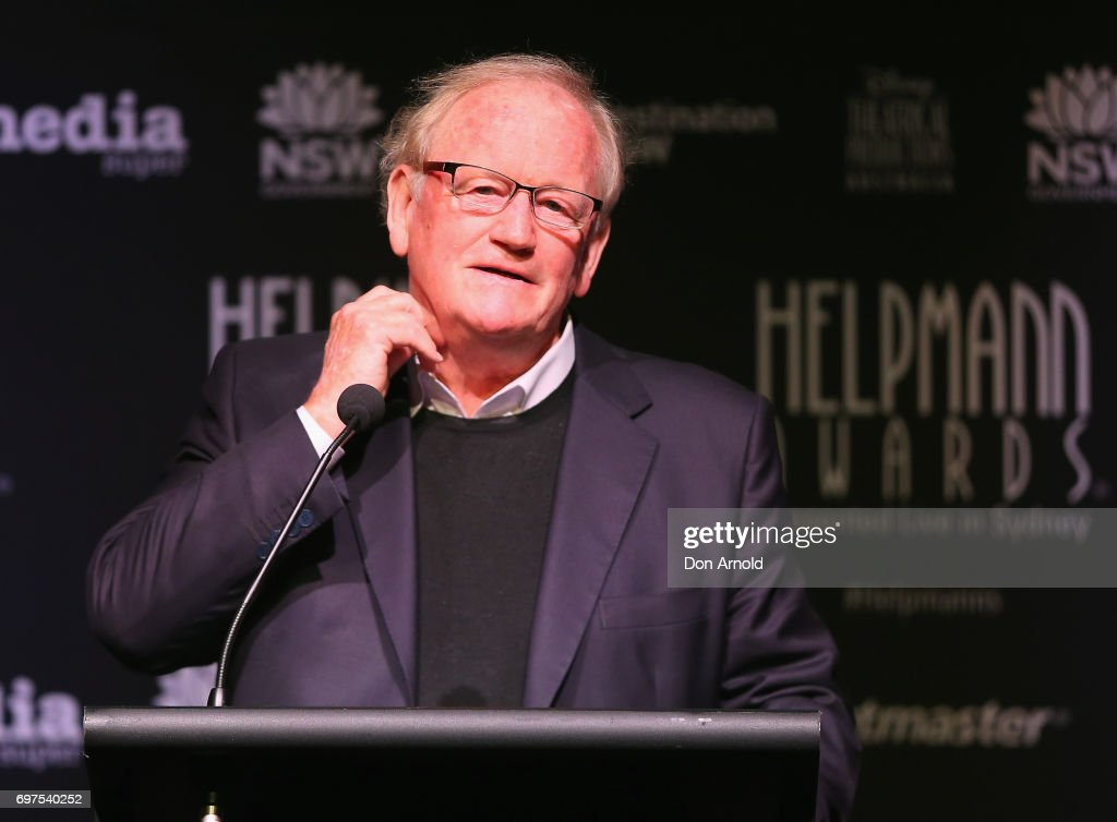 Jon Nicholls announces nominees during the Helpmann Awards 2017 Nomination Announcement at Roslyn Packer Theatre on June 19, 2017 in Sydney, Australia.