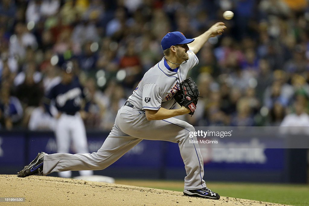 <a gi-track='captionPersonalityLinkClicked' href=/galleries/search?phrase=Jon+Niese&family=editorial&specificpeople=6886535 ng-click='$event.stopPropagation()'>Jon Niese</a> #49 of the New York Mets pitches against the Milwaukee Brewers during the game at Miller Park on September 14, 2012 in Milwaukee, Wisconsin.