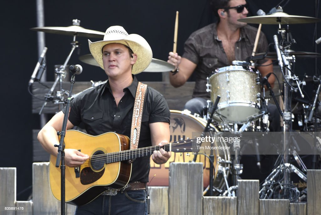 Jon Pardi performs during the 'What The Hell' world tour at Toyota Amphitheatre on August 19, 2017 in Wheatland, California.