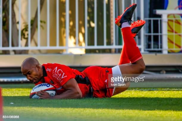 JP Jon Paul Pietersen of Toulon during the preseason match between Rc Toulon and Lyon OU at Felix Mayol Stadium on August 17 2017 in Toulon France