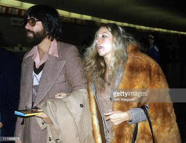 Jon Peters and Barbra Streisand during Barbra Streisand Sighting in New York City October 1 1975 at JFK Airport in New York City United States