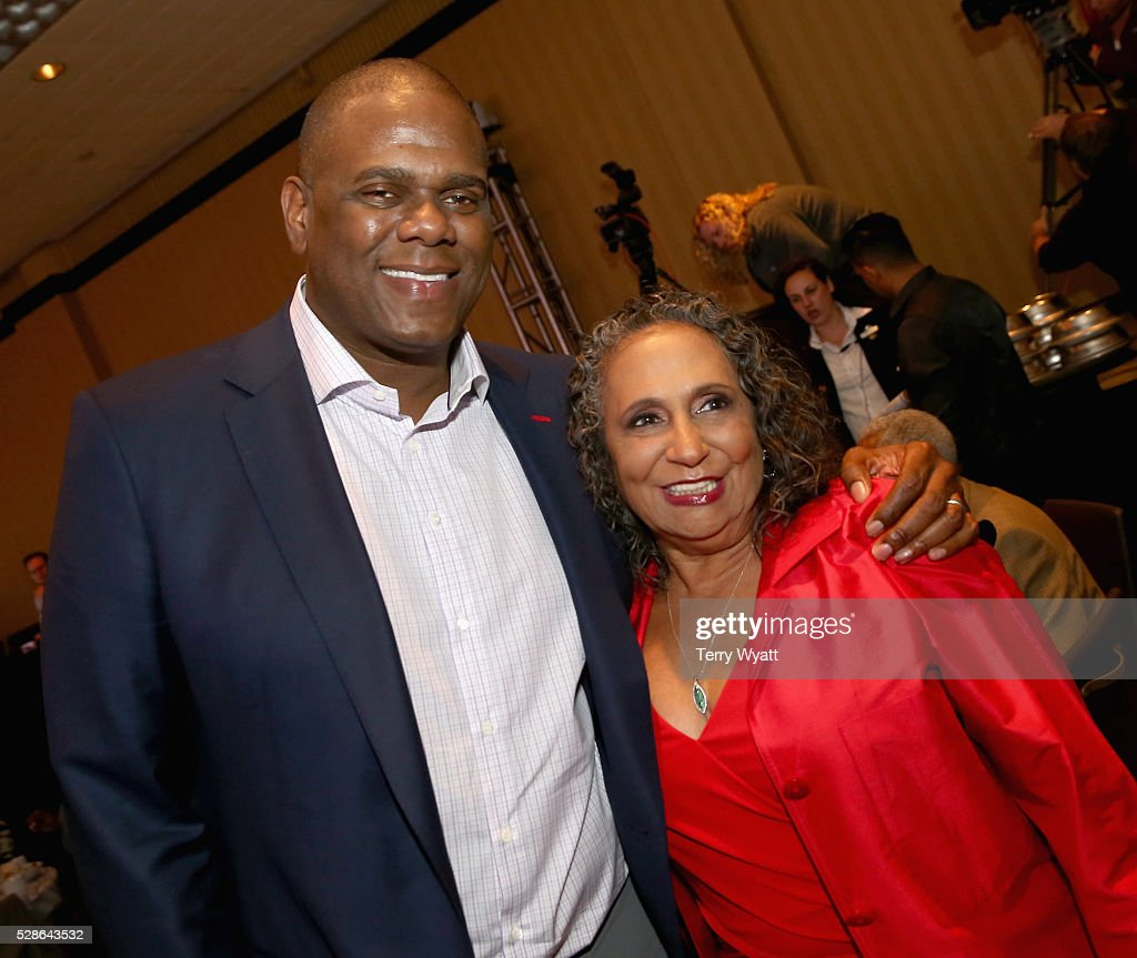 Jon Platt, Chairman & CEO of Warner/Chappell Music (L) and <a gi-track='captionPersonalityLinkClicked' href=/galleries/search?phrase=Cathy+Hughes&family=editorial&specificpeople=2614707 ng-click='$event.stopPropagation()'>Cathy Hughes</a> TV One/Radio One Chairman (R) attend NMAAM's Celebration Of Legends Red Carpet And Luncheon on May 6, 2016 in Nashville, Tennessee.
