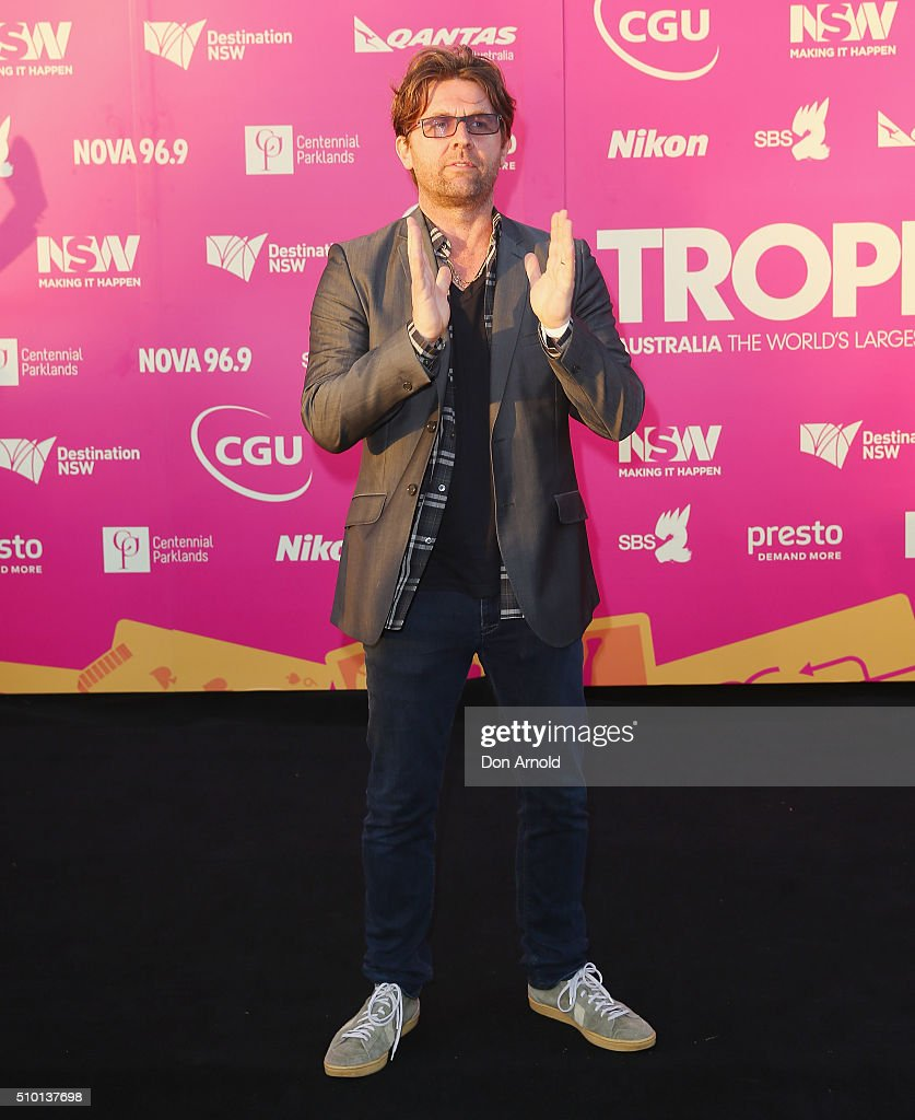 Jon Polson arrives ahead of Tropfest 2016 at Centennial Park on February 14, 2016 in Sydney, Australia.
