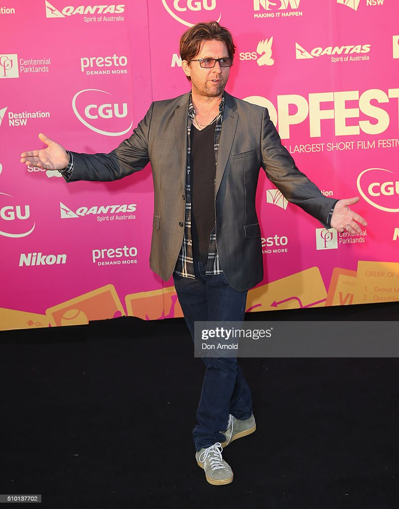 Jon Polson arrives ahead of Tropfest 2016 at Centennial Park on February 14, 2016 in Sydney, Australia.