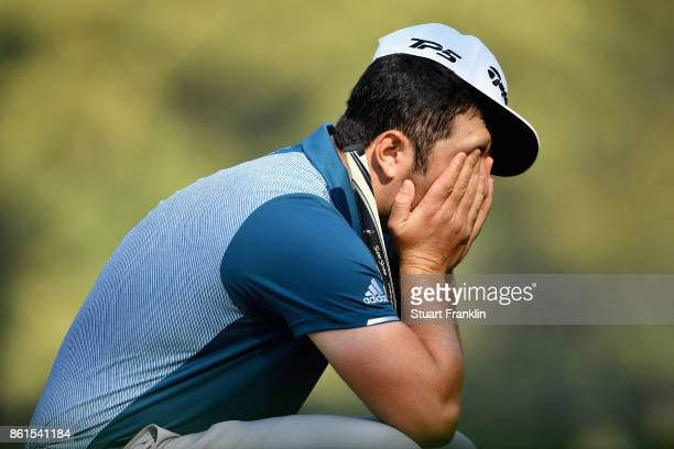 Jon Rahm of Spain during the final round of the 2017 Italian Open at Golf Club Milano Parco Reale di Monza on October 15 2017 in Monza Italy